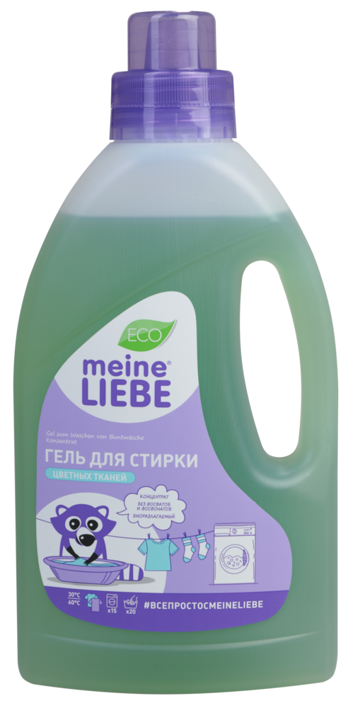 Laundry liquid for colored clothes, Concentrate. Meine Liebe